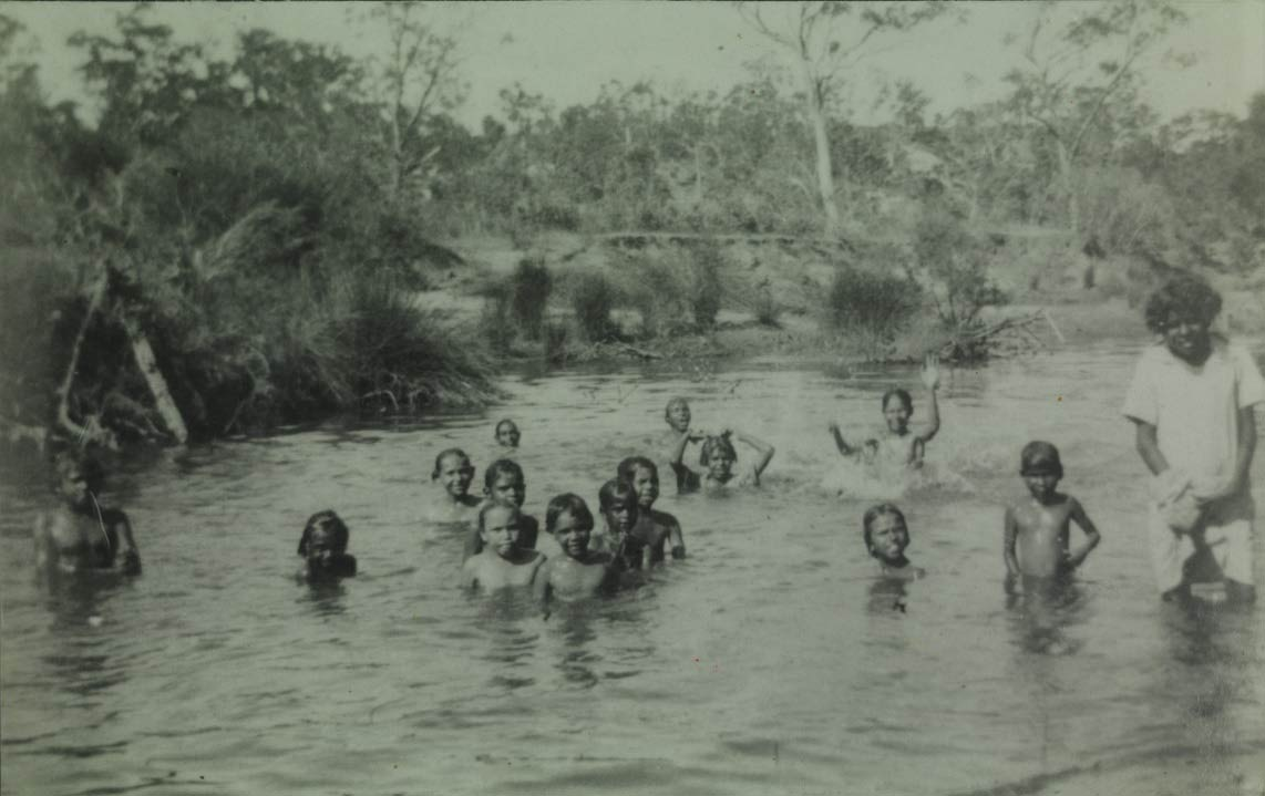 Moore River Native Settlement girls bathing in the Moore River 1937