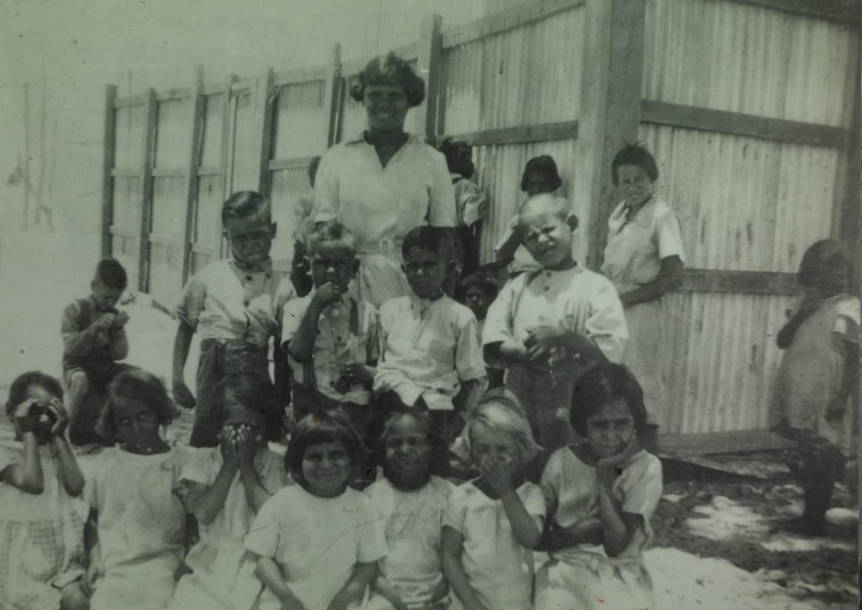 Moore River Native Settlement kindergarten group Betty Cameron (seated)