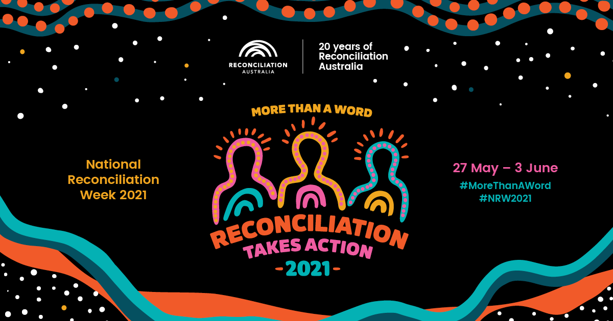 Reconciliation Takes Action 2021 promotional tile with artwork