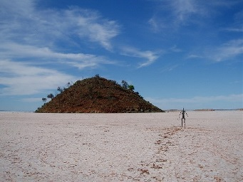 Photo of a sculpture: Inside Australia, Lake Ballard Western Australia by artist Antony Gormley