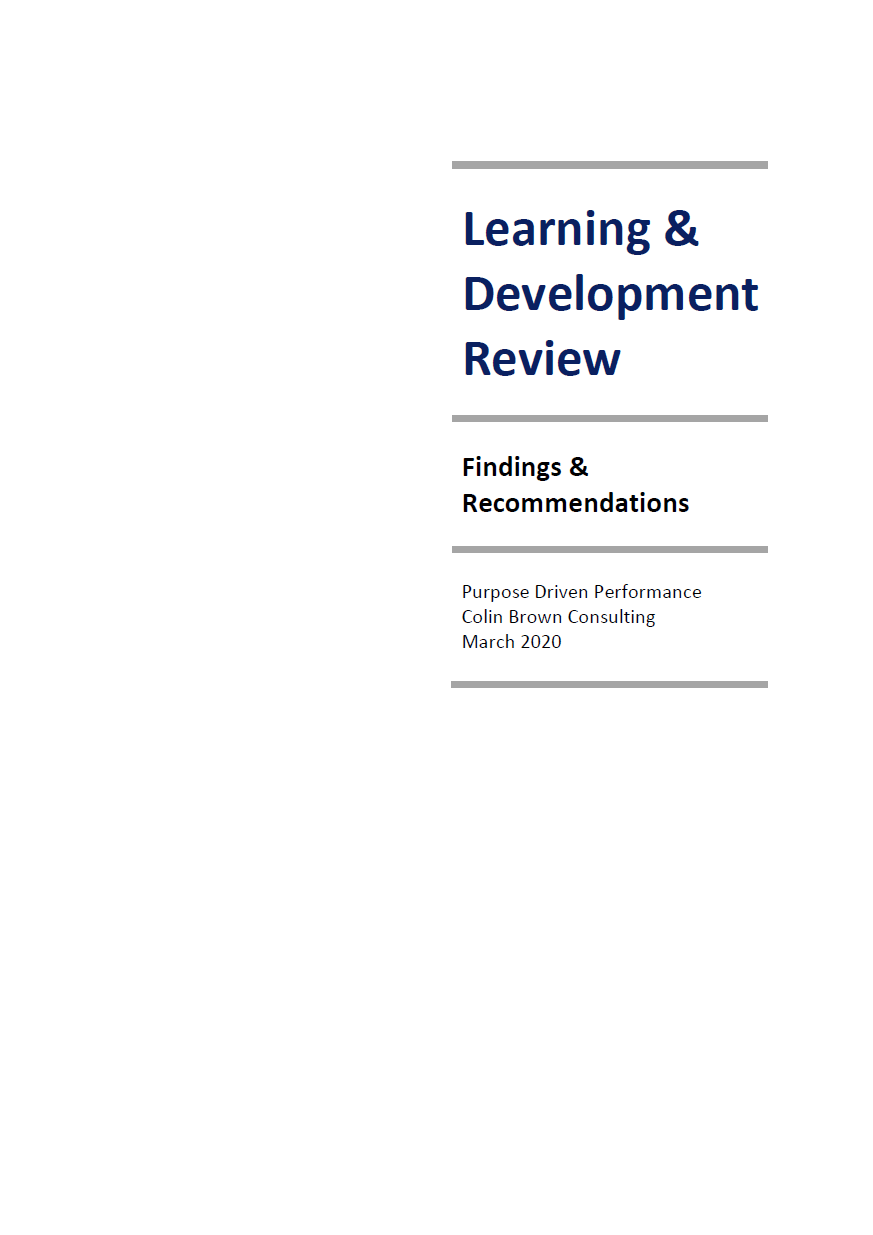 Learning and Development Review cover