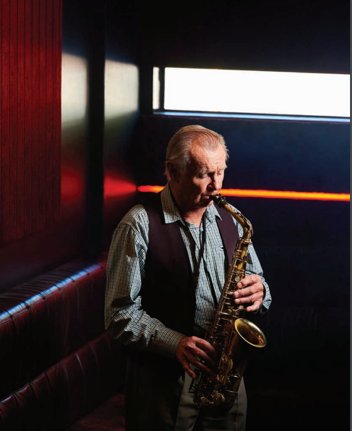 Lew Smith playing saxophone