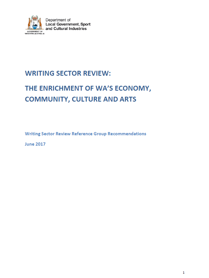 Writing Sector Review cover page
