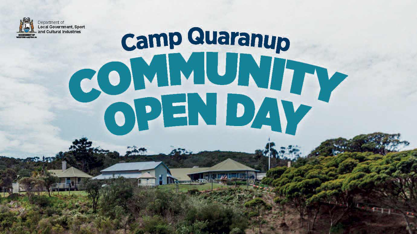 Camp Quaranup Community Open Day with an image of the camp