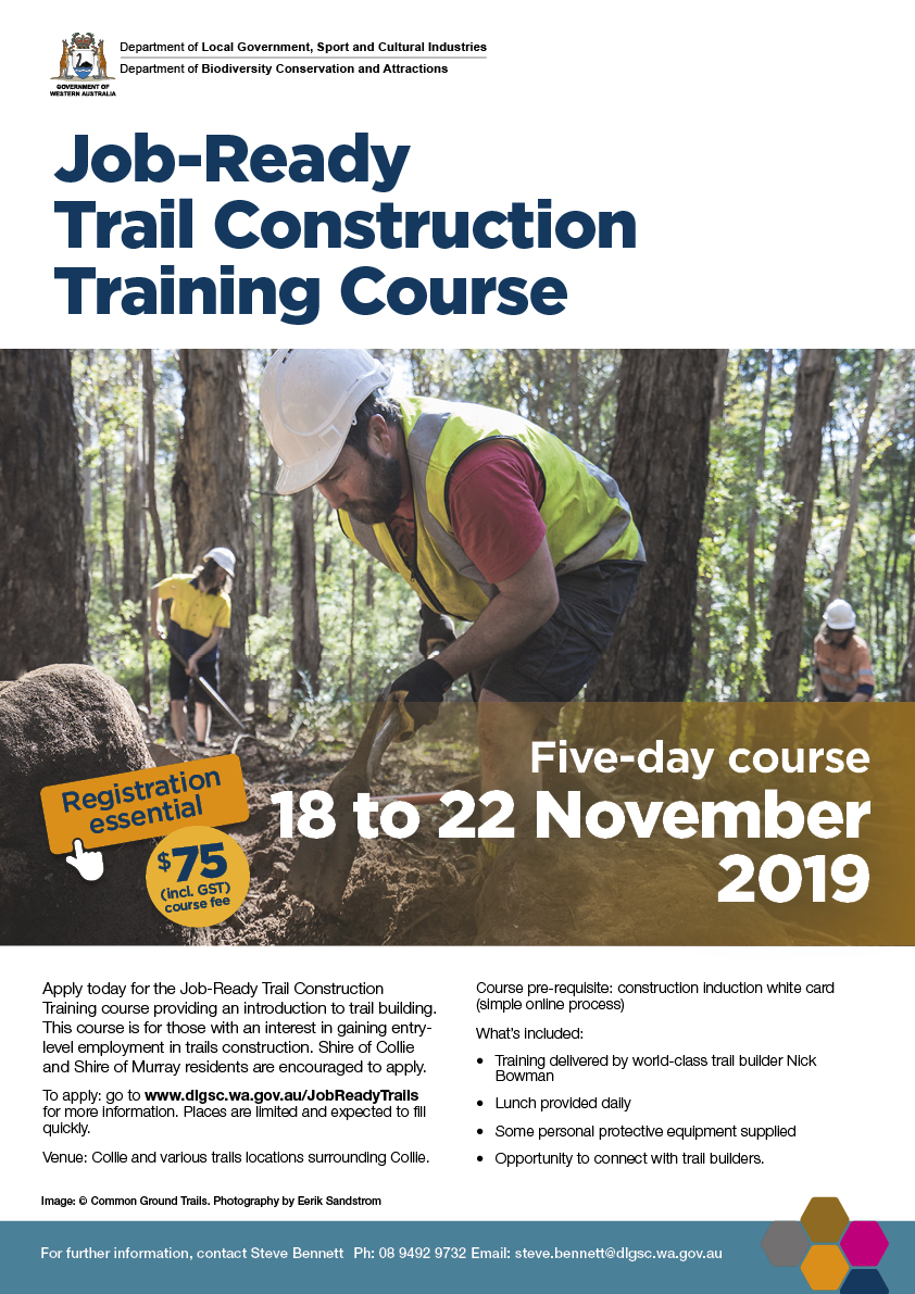 Job-Ready Trail Construction Training Course flyer
