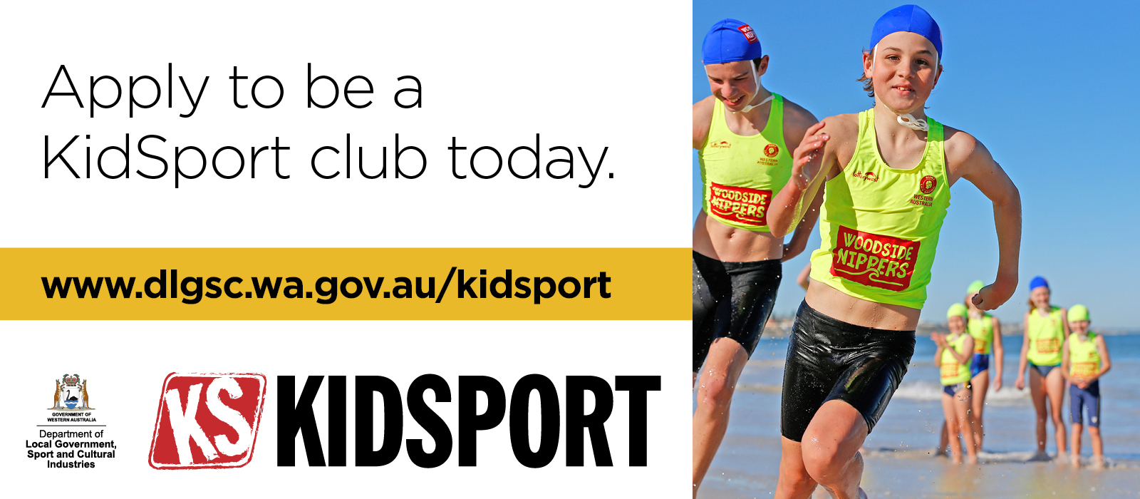 KidSport website images Apply to be a KidSport club today