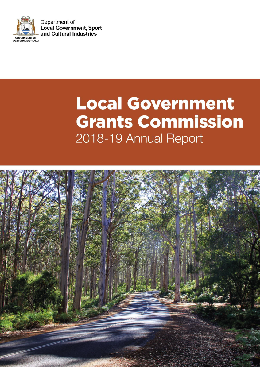 Western Australian Local Government Grants Commission Annual Report 2019