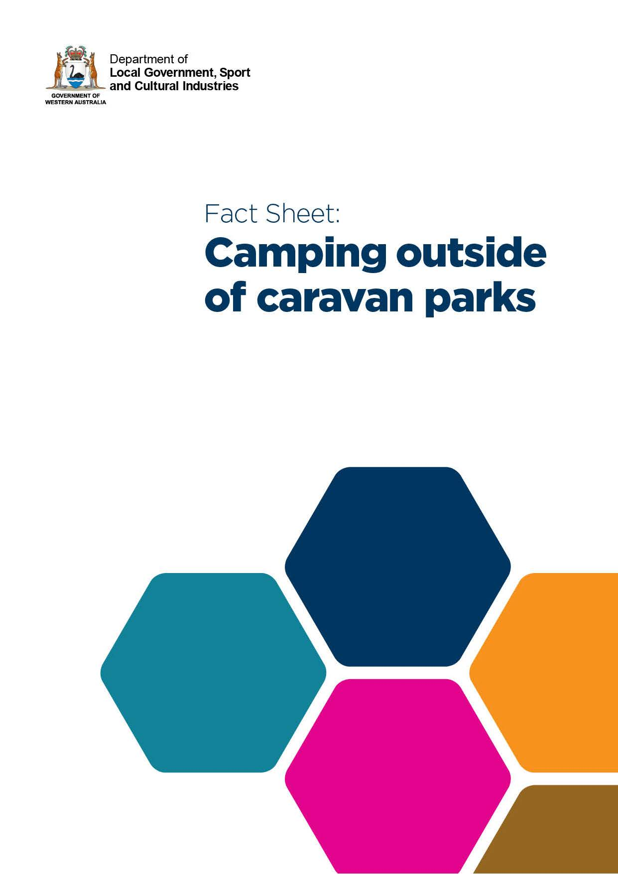 Camping outside if caravan parks cover