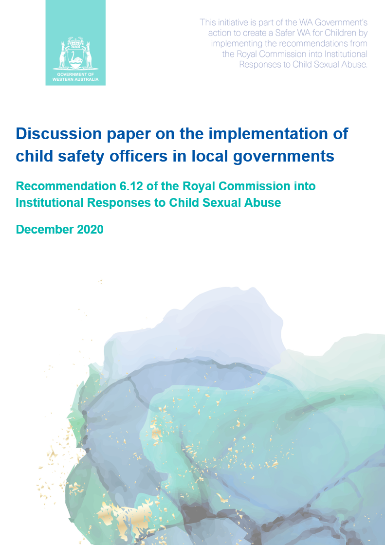 Discussion paper on the implementation of child safety officers in local governments