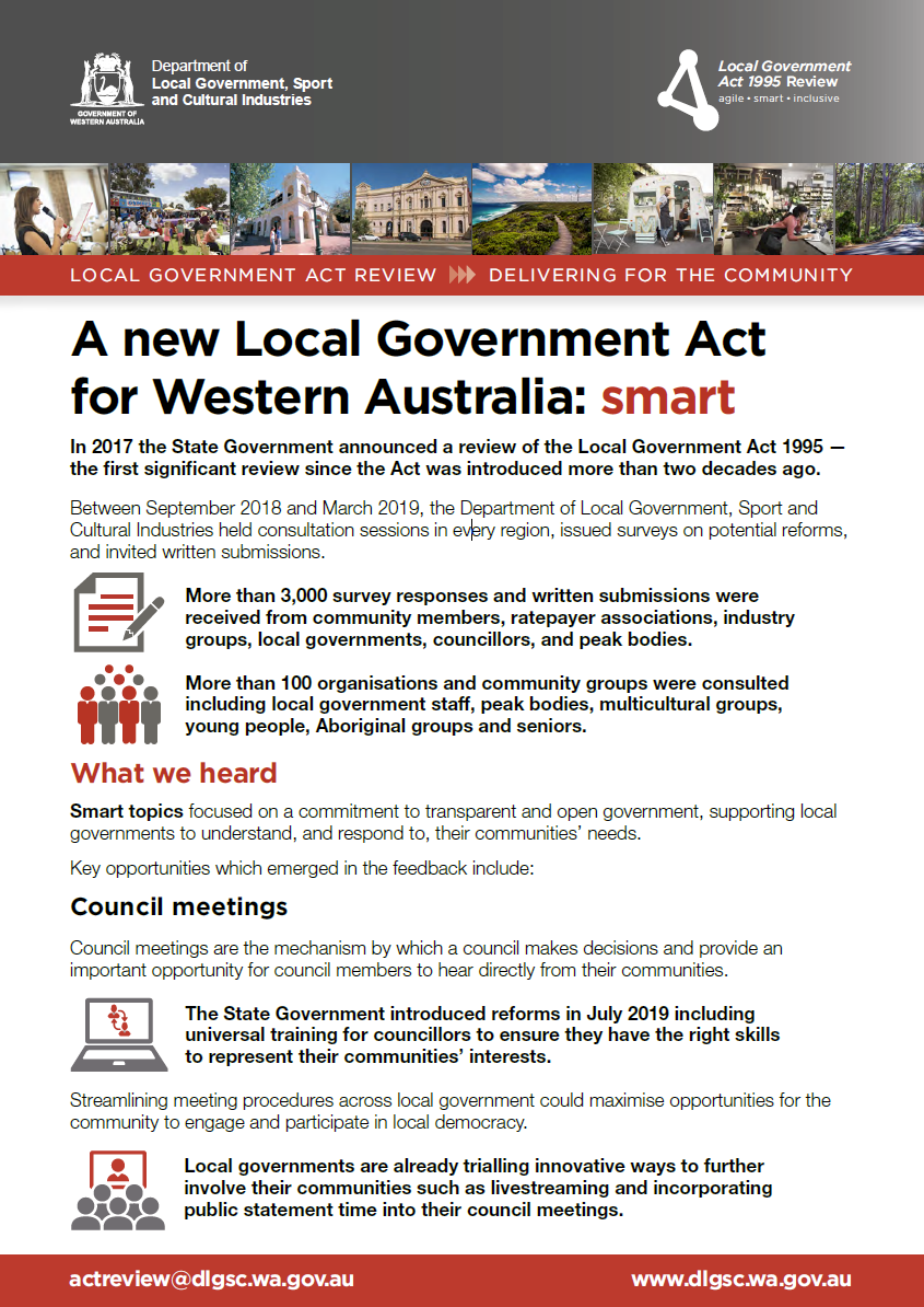A new Local Government Act for Western Australia: smart