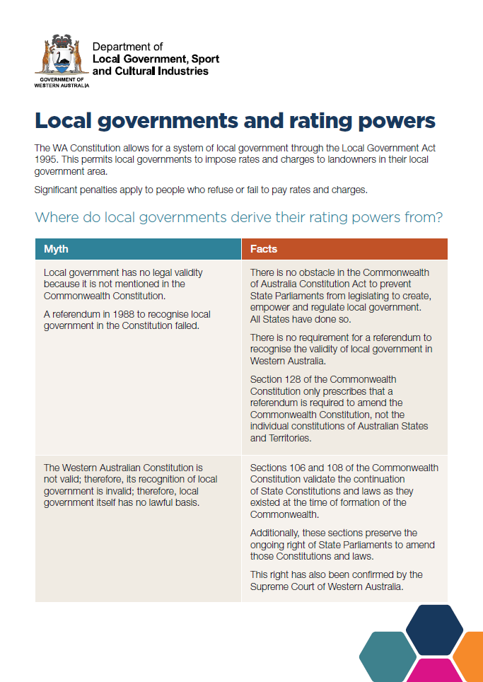 Local governments and rating powers cover
