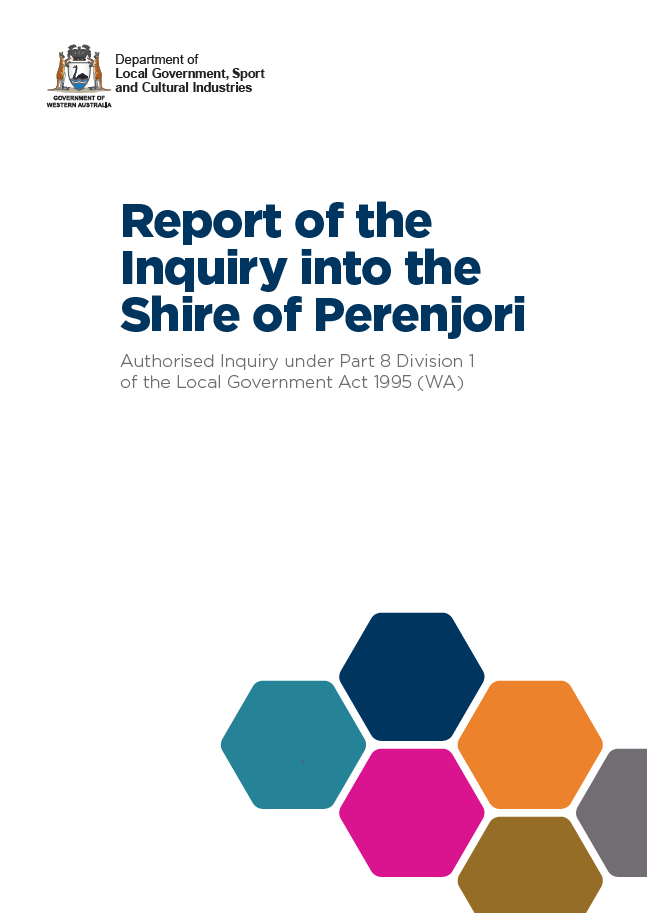 Y:\Website\Report of the Inquiry into the Shire of Perenjori cover