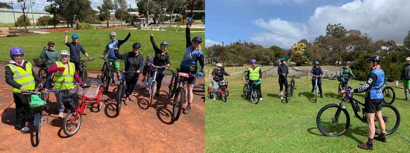 Participants of the Pedal Plantagenet Program gathered in Wilson Park Mount Barker to celebrate Bike Month 2020.