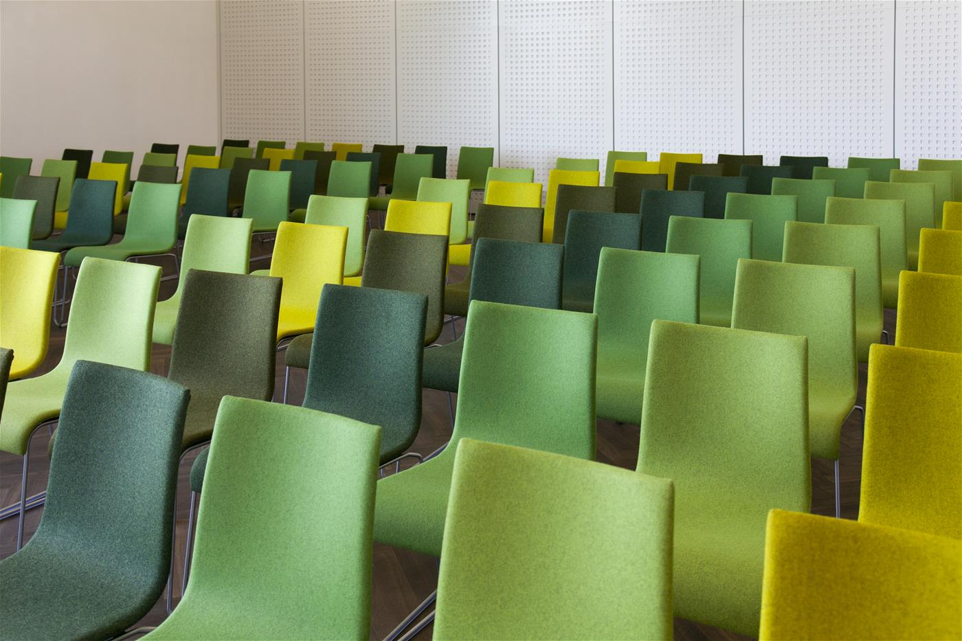 Empty chairs in a meeting room