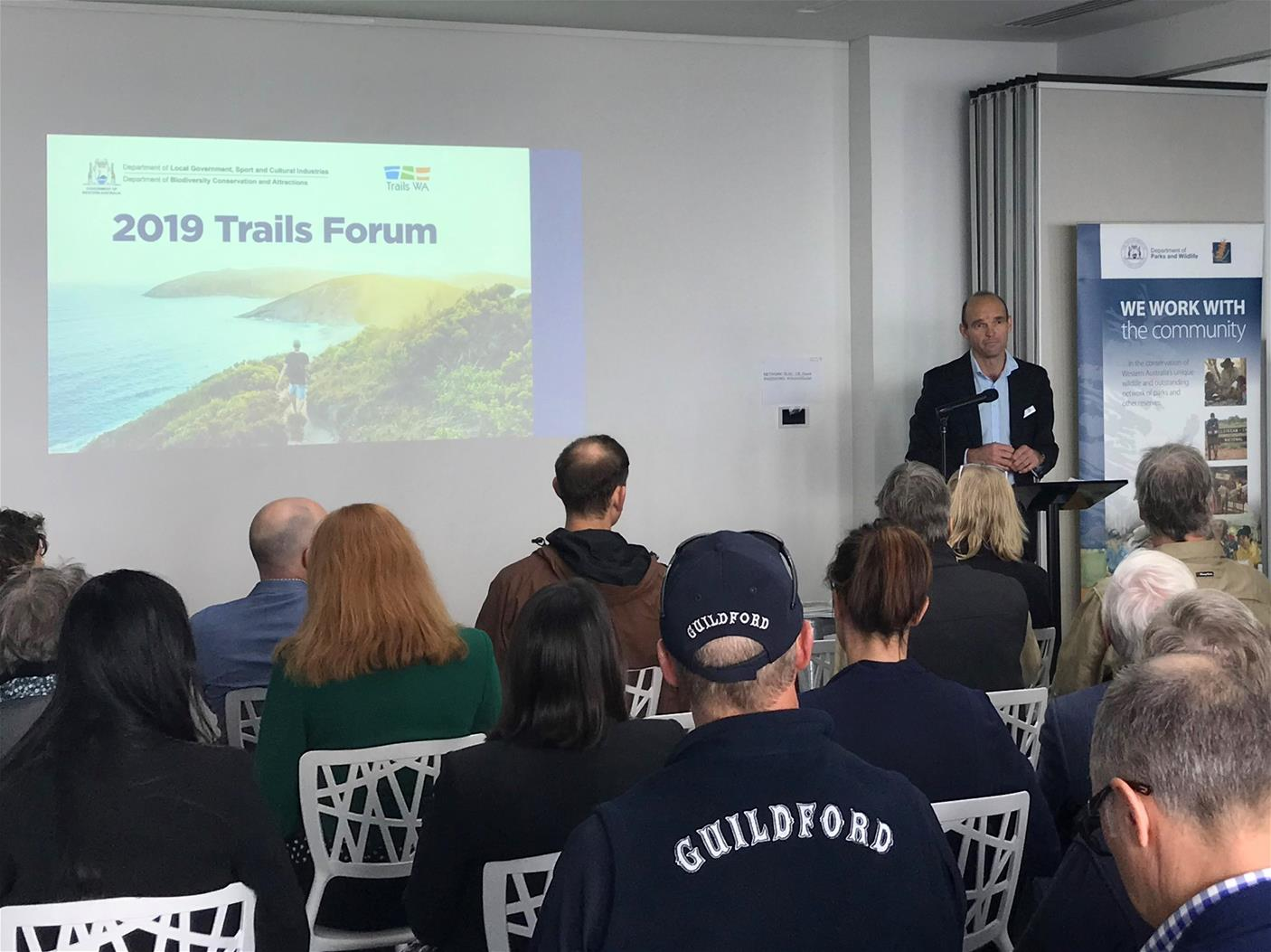 Tim Swart at the 2019 Trails Forum