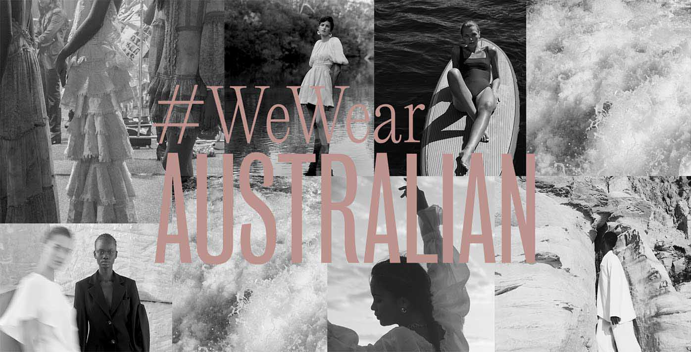 #WeWearAustralian campaign with black and white montage of fashion photos
