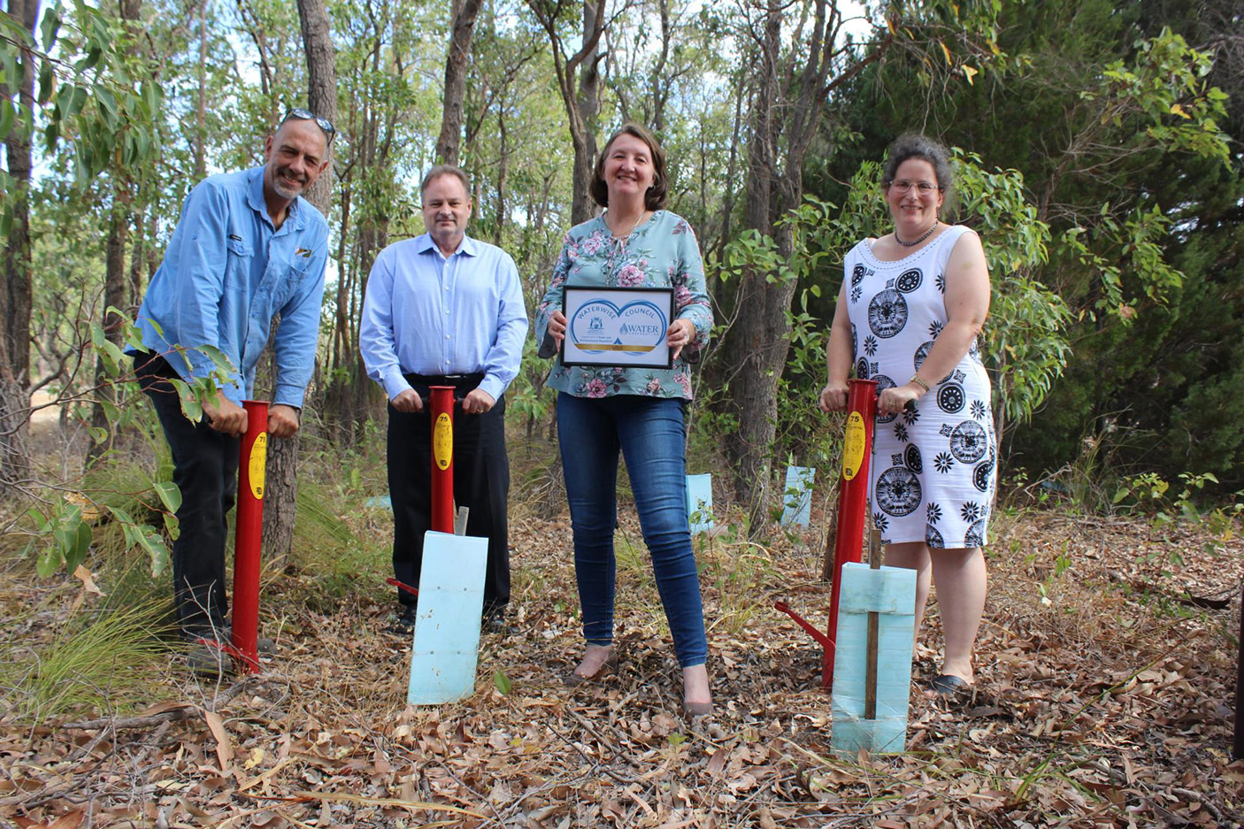 Shire President Cr Michelle Rich celebrates the Shire's 2020 Gold Waterwise Council rating