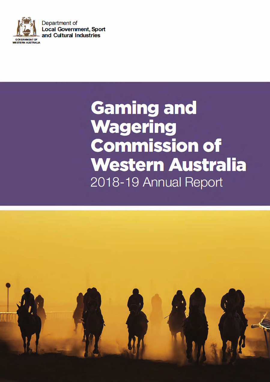 Gaming and Wagering Commission of Western Australia 2018-19 Annual Report cover