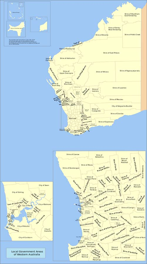 Local governments in Western Australia