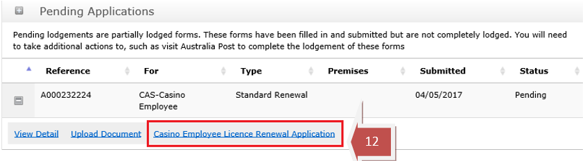 Casino Employee Licence Renewal step 12