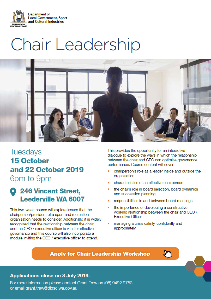 Chair Leadership flyer