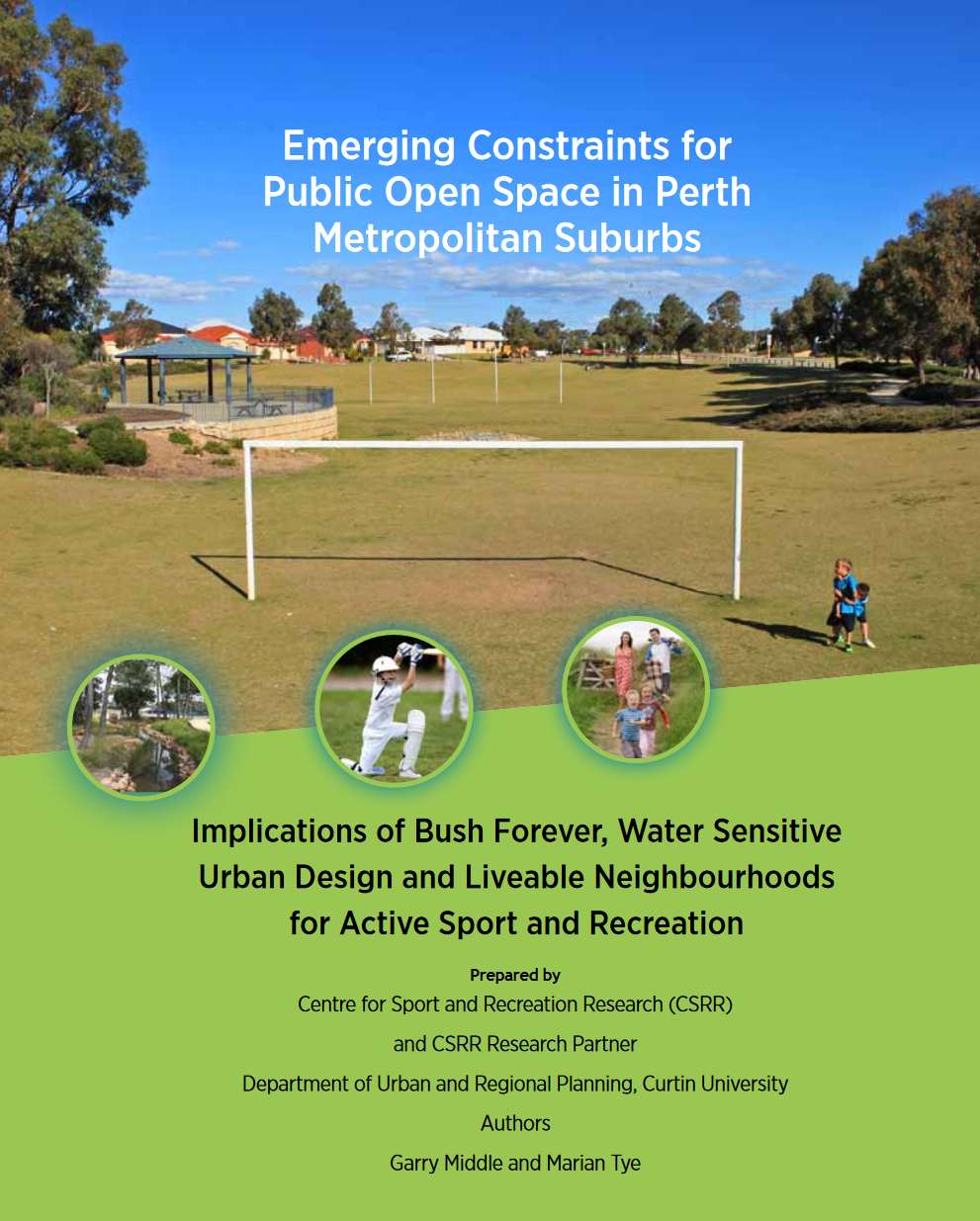 Emerging Constraints for Public Open Space in Perth Metropolitan Suburbs cover