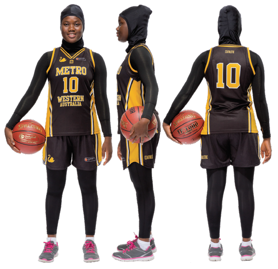 Multicultural Female Uniform Guidelines head covering basketball option c