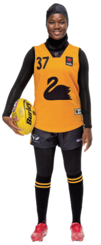Multicultural Female Uniform Guidelines football (Australia Rules Football) option c