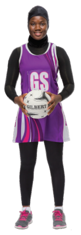 Multicultural Female Uniform Guidelines netball team dress or skirt leggings head covering