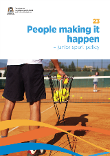 People making it happen  Junior sport policy cover