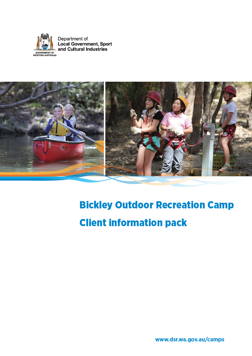 Bickley Camp Client Information Pack cover