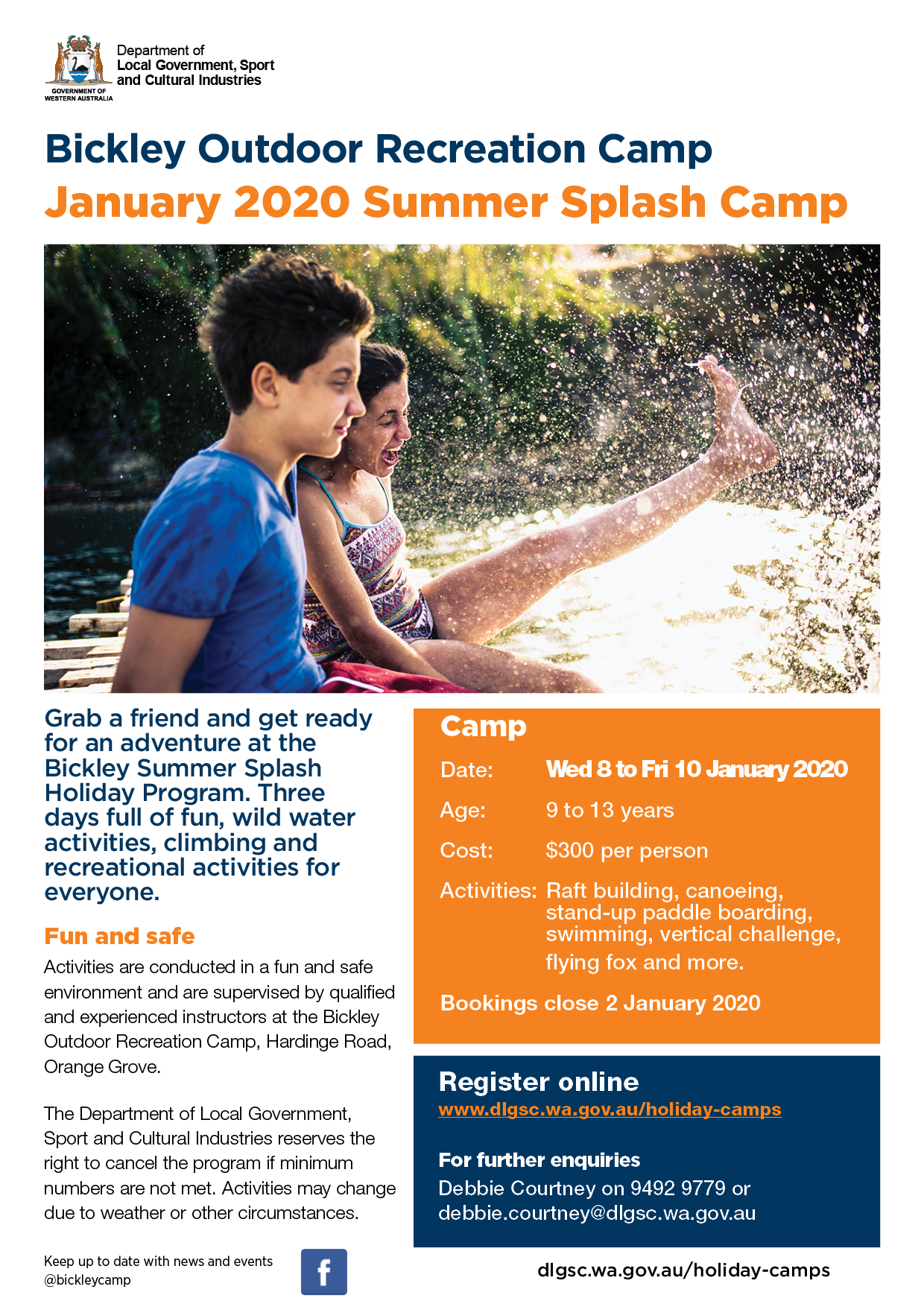 Bickley Summer Splash Camp Jan 2020
