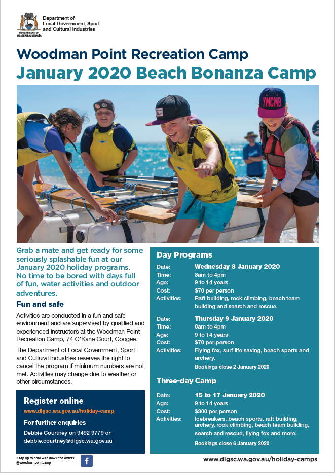 Woodman Point Beach Bonanza Jan 2020 flyer