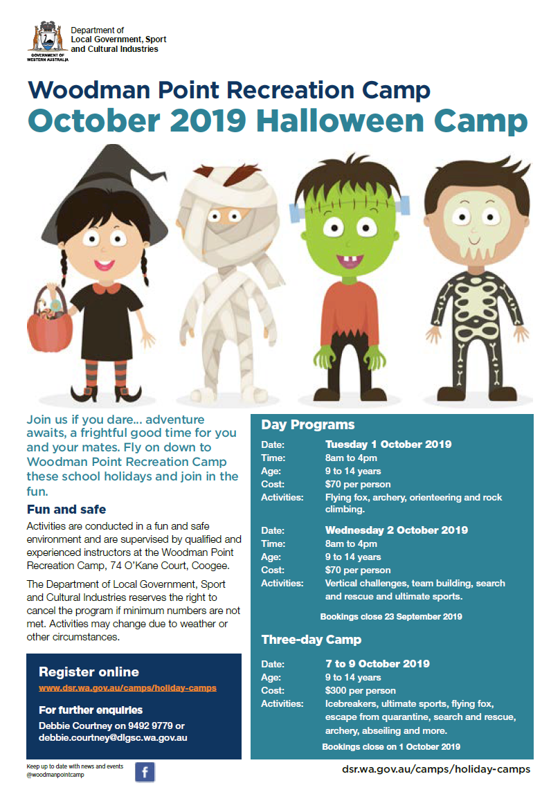 Woodman Point October 2019 Halloween Camp