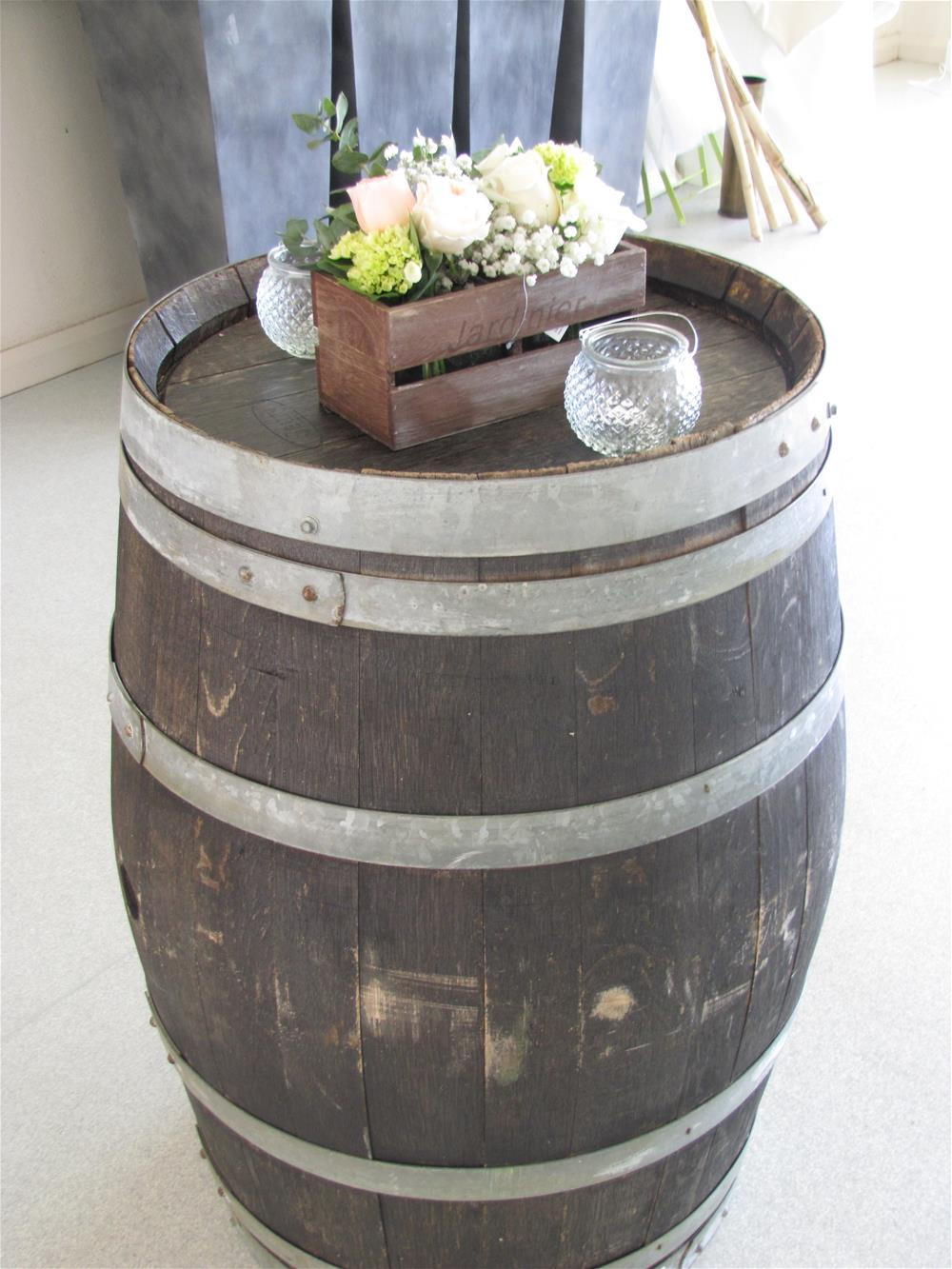 Wine barrel decorations