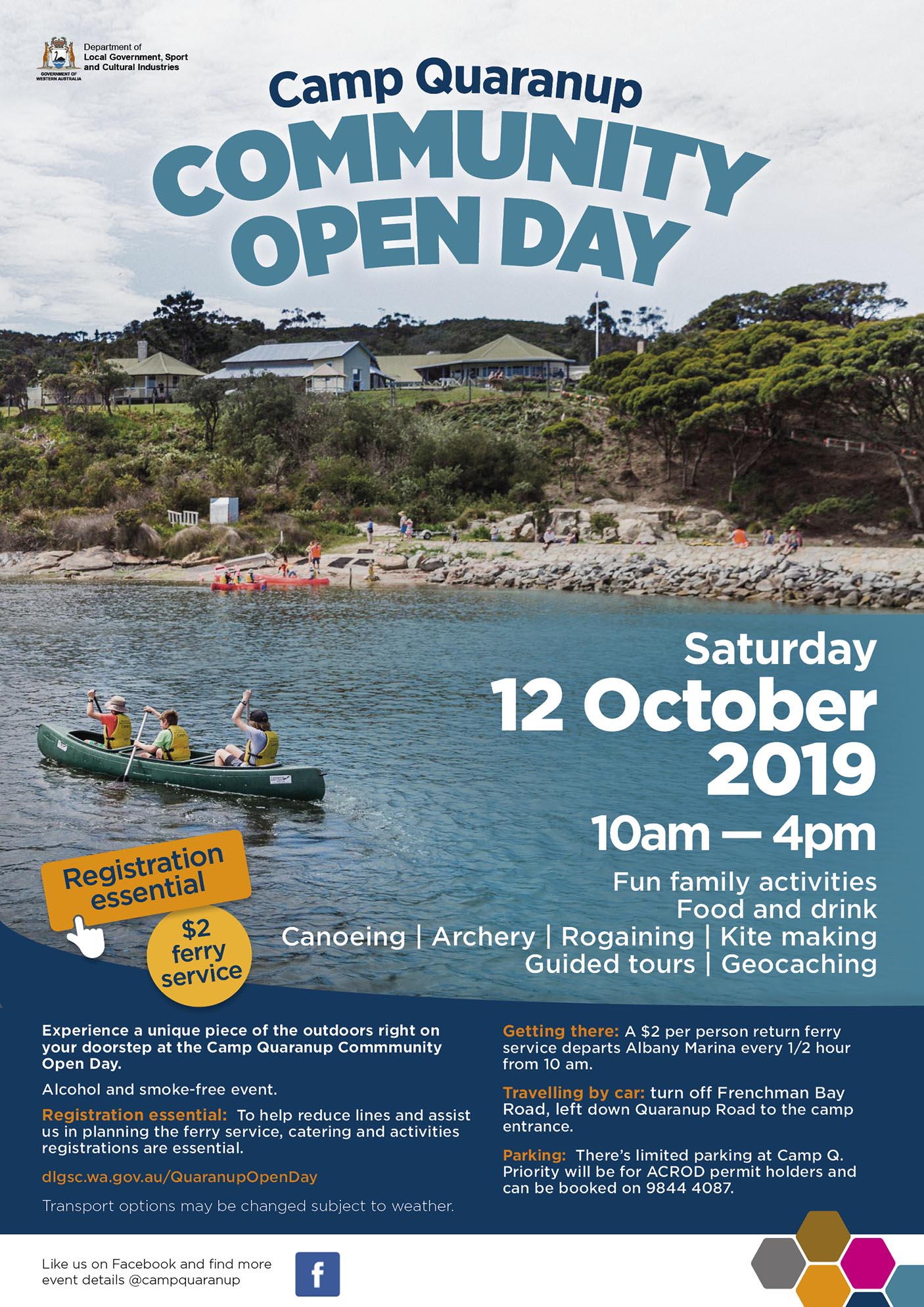 Camp Quaranup 2019 Open Day Poster v2