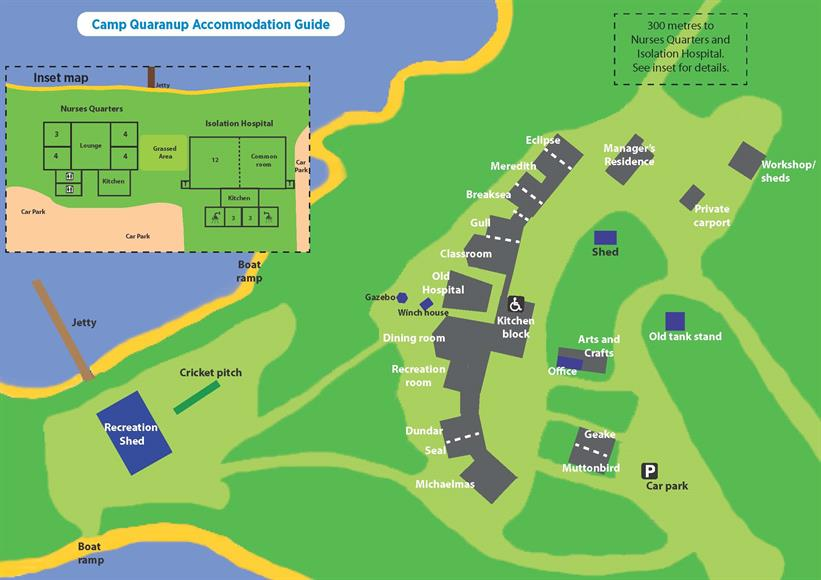 Camp Quaranup map