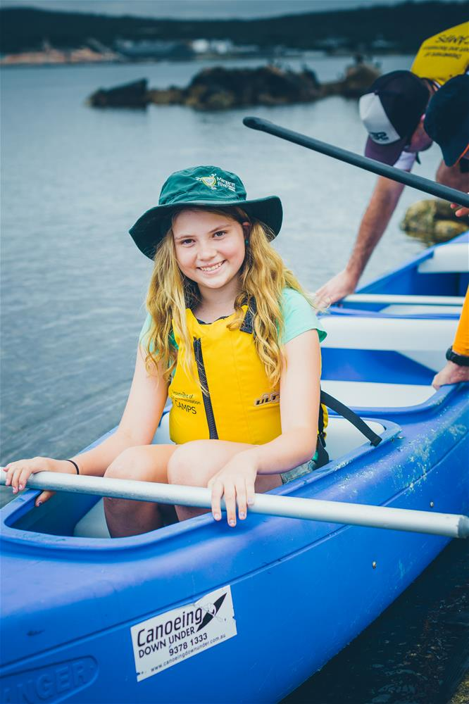 Canoeing at Camp Quaranup