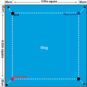 boxing ring dimensions