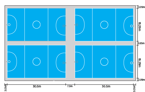 Netball-four-court-layout