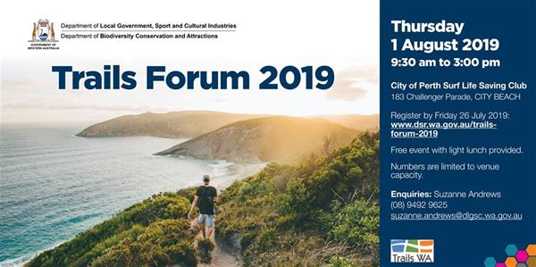 Trails Forum 2019 flyer