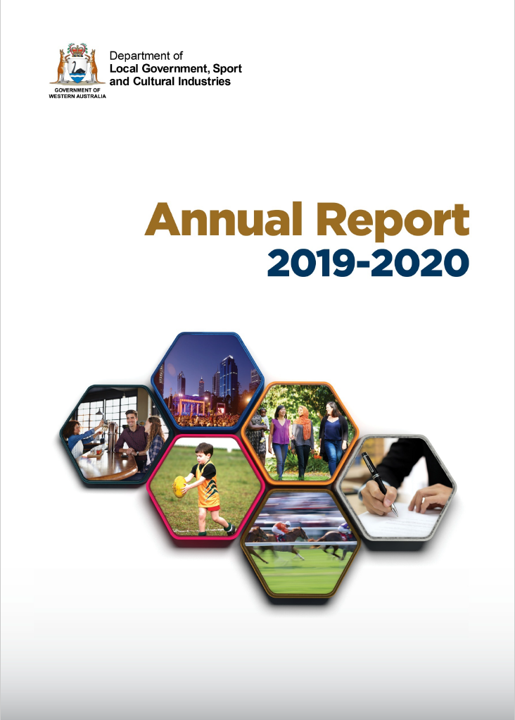 Front cover of the DLGSC Annual Report 2019-2020